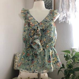 Lauren Conrad ruffle blouse